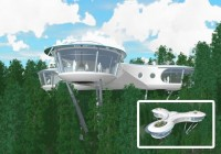 Creative Futuristic Tree House Design