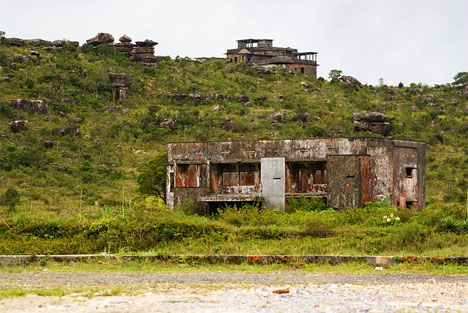abandoned bokor hill hotel buildings