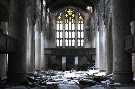 abandoned church gary indiana interior