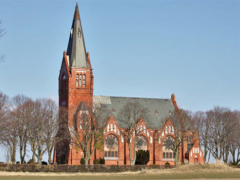 abandoned church sweden exterior