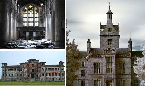 abandoned churches hospitals asylums hotels