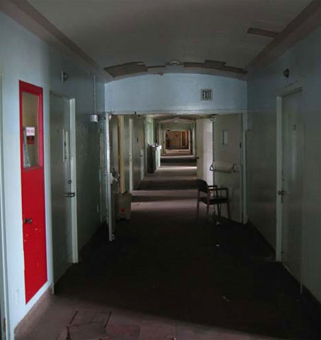 abandoned linda vista hospital hallway