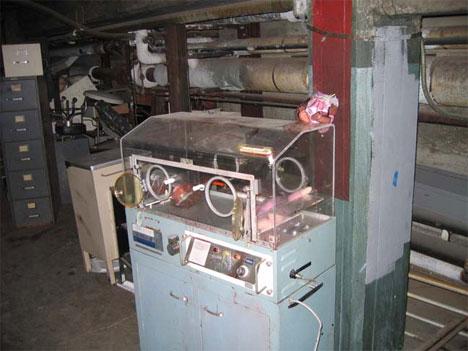 abandoned linda vista hospital incubator