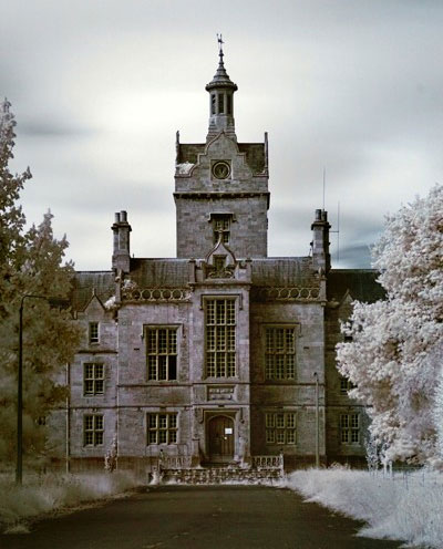 abandoned north wales hospital exterior