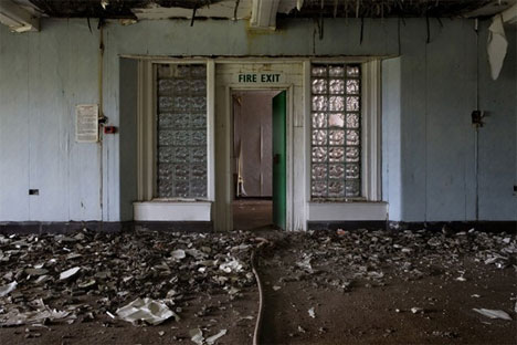 abandoned north wales hospital fire exit