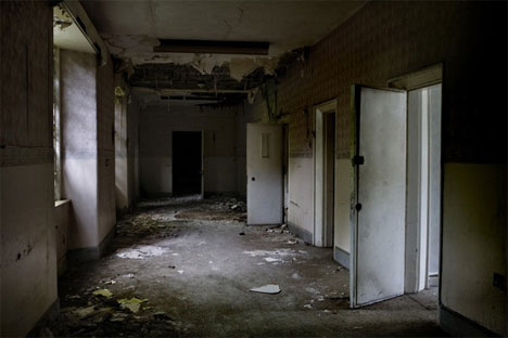 abandoned north wales hospital hallway