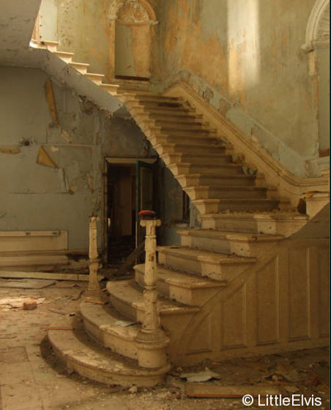 abandoned st johns lincolnshire county pauper asylum stairs