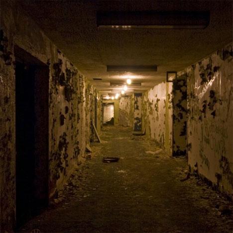 abandoned sterling hotel hallway