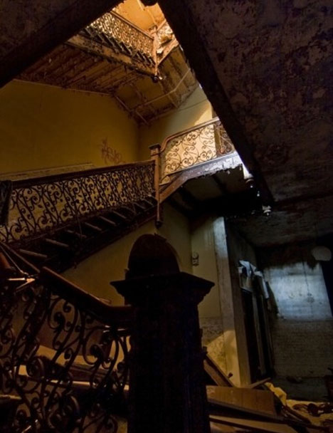 abandoned sterling hotel stairs