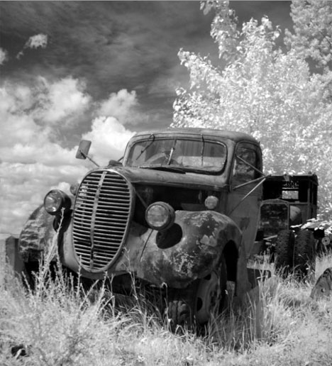 cb clements infrared black and white photo