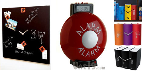 Times Square and Alarm and Book clocks