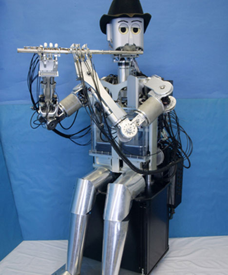 flute playing robot
