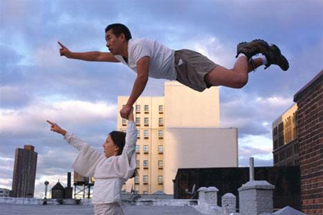 li wei photography in motion superman