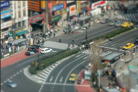Marcus Spedding tilt shift photography toytown Japan