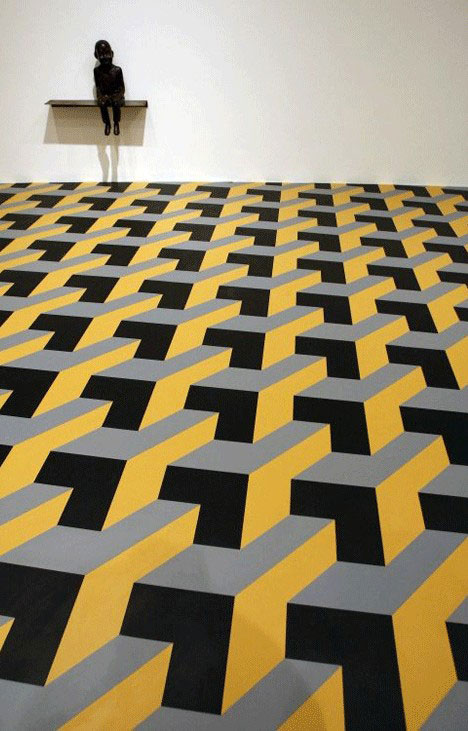 20 artistic wall warping architectural optical illusions for Floor illusions