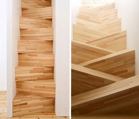 15 crazy modern stairs creative staircase designs urbanist - Tight space staircase design ...