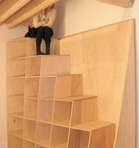 15 crazy modern stairs creative staircase designs urbanist - Attic stairs for small spaces style ...