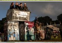 Banksy Portable Toilet Henge Installation