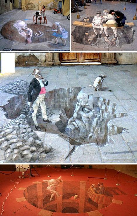3D Snarky Street Art by Relero