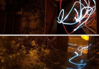 Simple Light Graffiti Snakes by Etchlight