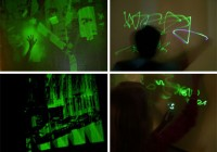 Temporary Glowing Wall Light Graffiti