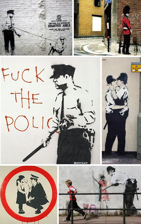 Banksy Police Stencils and Graffiti