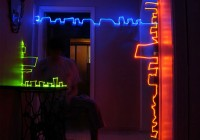 Complex Comedic Light Graffiti of RB