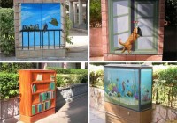 3D Painted Circuit Box Street Art
