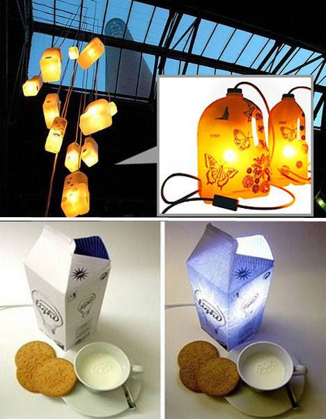 Milk carton lighting