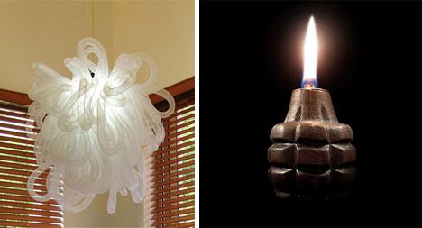Kaboom and Grenade Oil Lamp