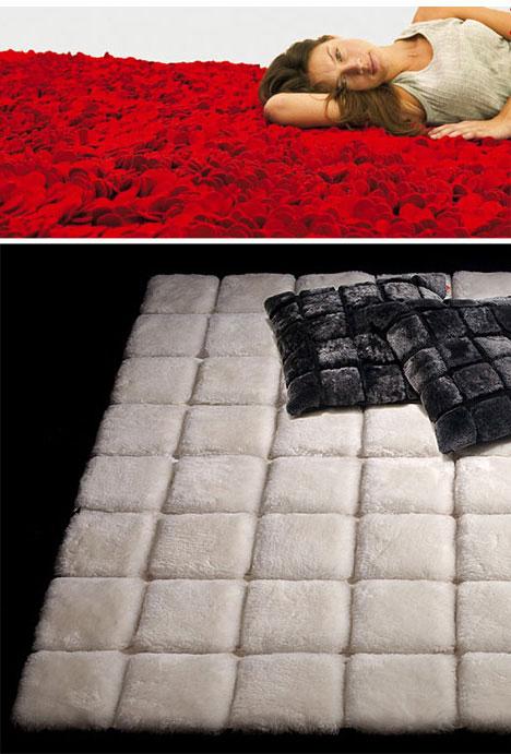 Roses rug and Hide carpet