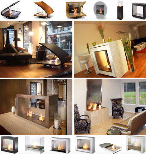 30 funky modern wood metal glass fireplace designs Fireplace ideas no fire