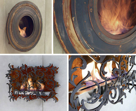30 Funky Modern Wood, Metal & Glass Fireplace Designs | WebUrbanist
