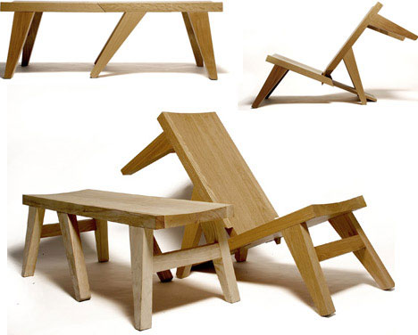 Merveilleux Elegant Folding Outdoor Bench Design