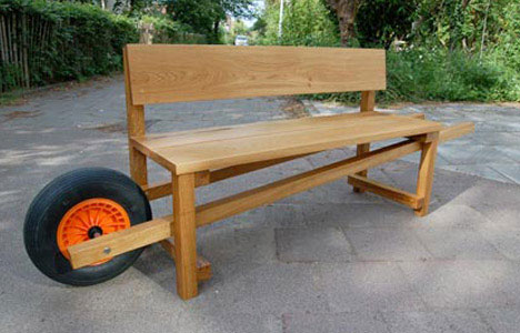 Funny Wheelbarrow Bench Design