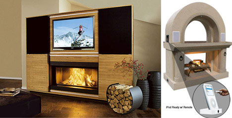 22 (more!) fun wood, metal & glass fireplace designs | urbanist