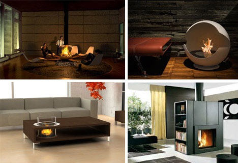 30 Funky Modern Wood, Metal & Glass Fireplace Designs | WebUrbanist