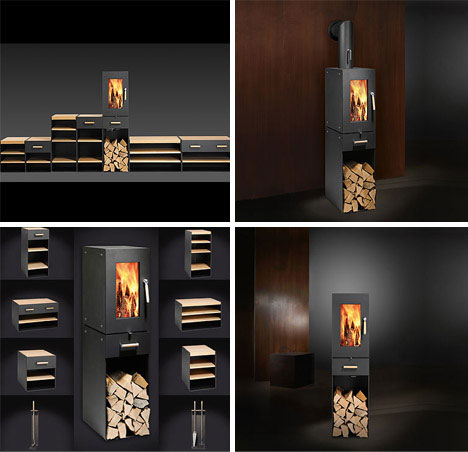 22 More Fun Wood Metal Glass Fireplace Designs Urbanist