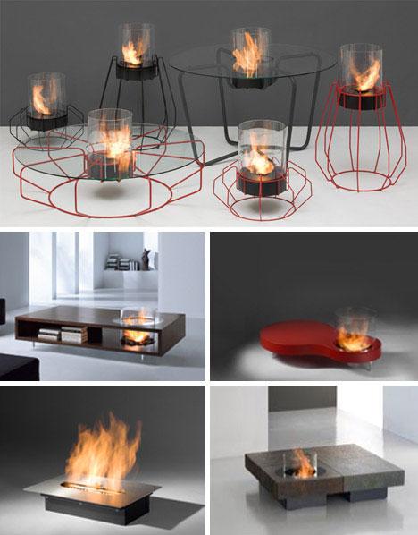 30 funky modern wood metal glass fireplace designs