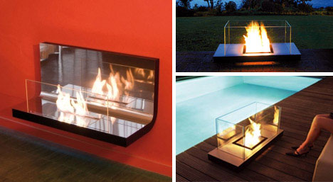 30 Funky Modern Wood Metal Glass Fireplace Designs Urbanist