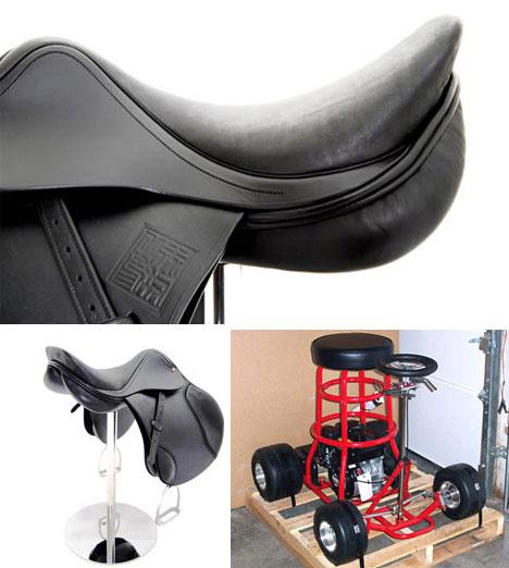Cowboy Saddle and Bar Stool Racer