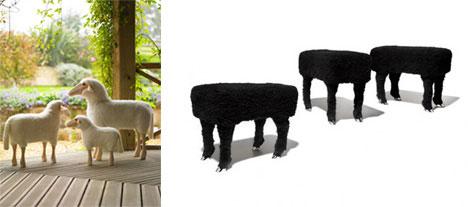 Sheep and Headless Sheep Stool