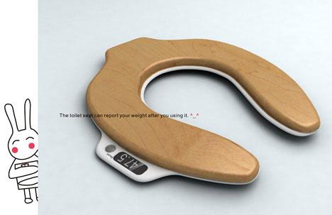 Toilet seat scales