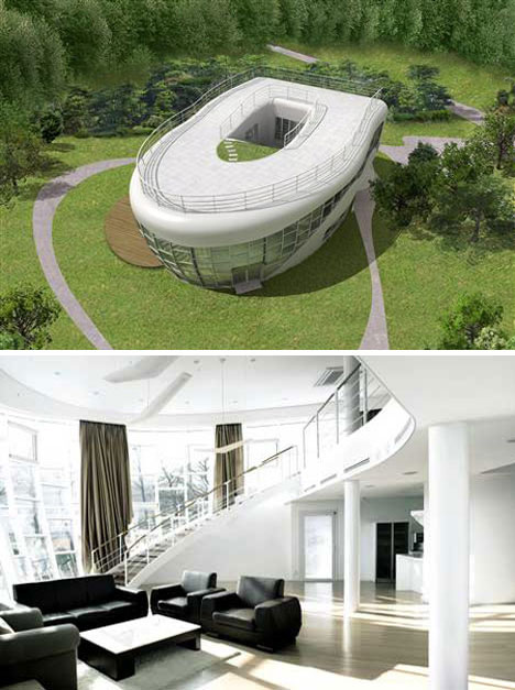 The Toilet-shaped House - A bizarre construction