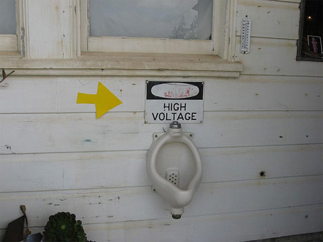 High Voltage toilet?