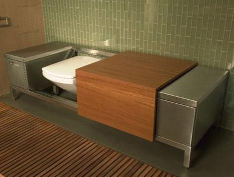 Bench toilet