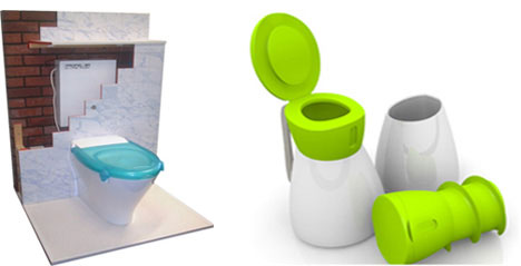 Propelair and Dignity toilets