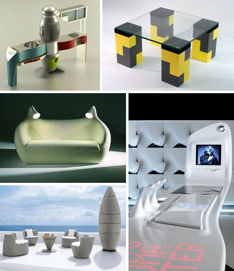 One s home may be their castle but that doesn t mean the furnishings have  to look medieval  These 15 futuristic furniture concept designs prove  there s a. Domestic Visions  15 Futuristic Modern Furniture Designs   Urbanist