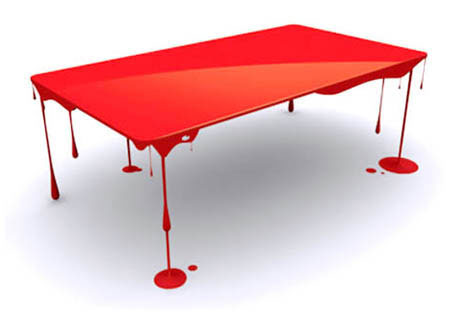 bloody table design