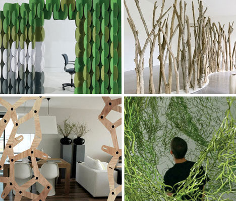 Room Dividers Green Free Standing